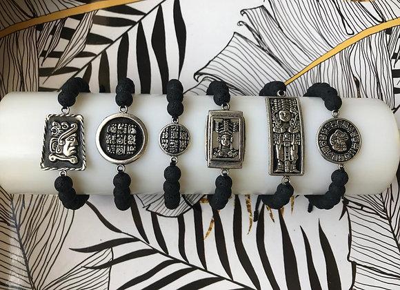 Adjustable Mayan Volcanic Bracelets