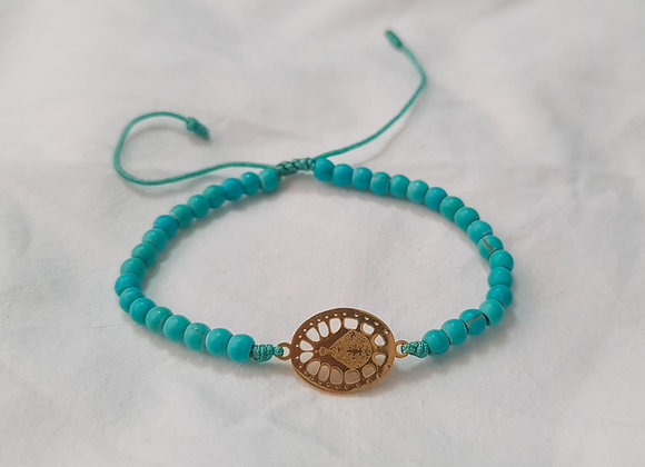 Adjustable Virgin of Suyapa Turquoise Bracelets