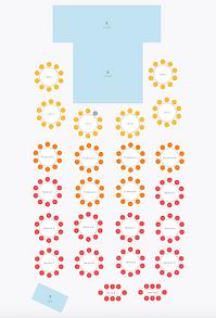 Mr. TANGO Seating Chart
