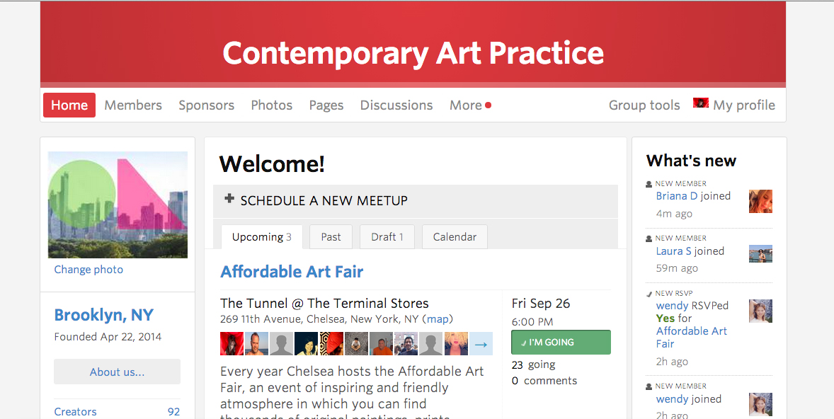 CONTEMPORARY ART PRACTICE MEETUP