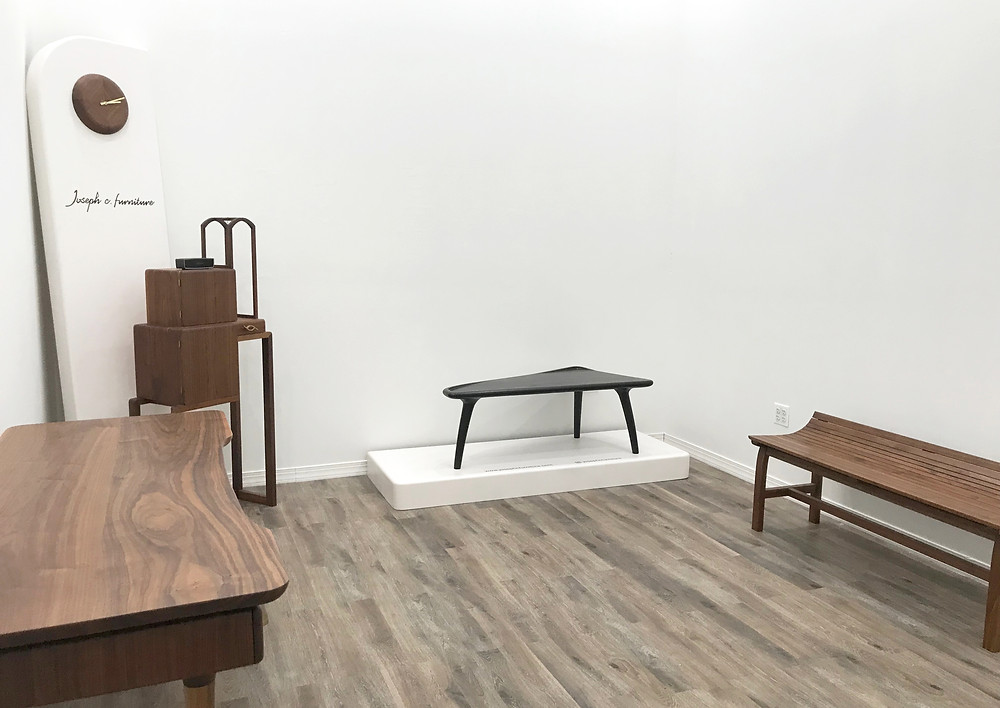 View of Joseph C. Furniture 2019 Collection Exhibition at Cargo Project Gallery
