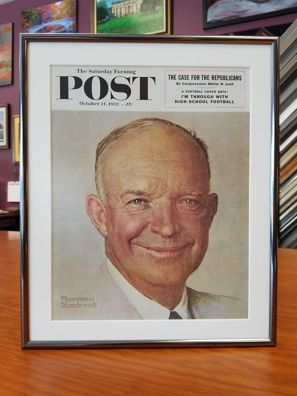 Saturday Evening Post Cover - Norman Rockwell portrait of Eisenhower