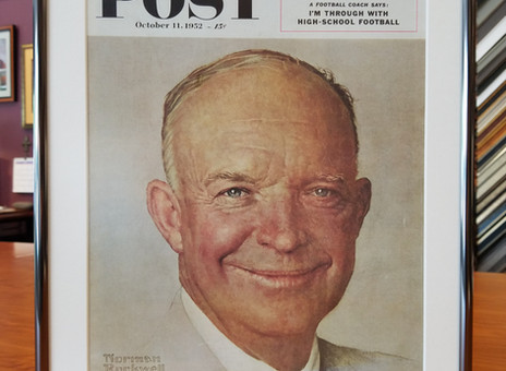 Stunning Frame for Saturday Evening Post Cover - Norman Rockwell's Eisenhower Portrait