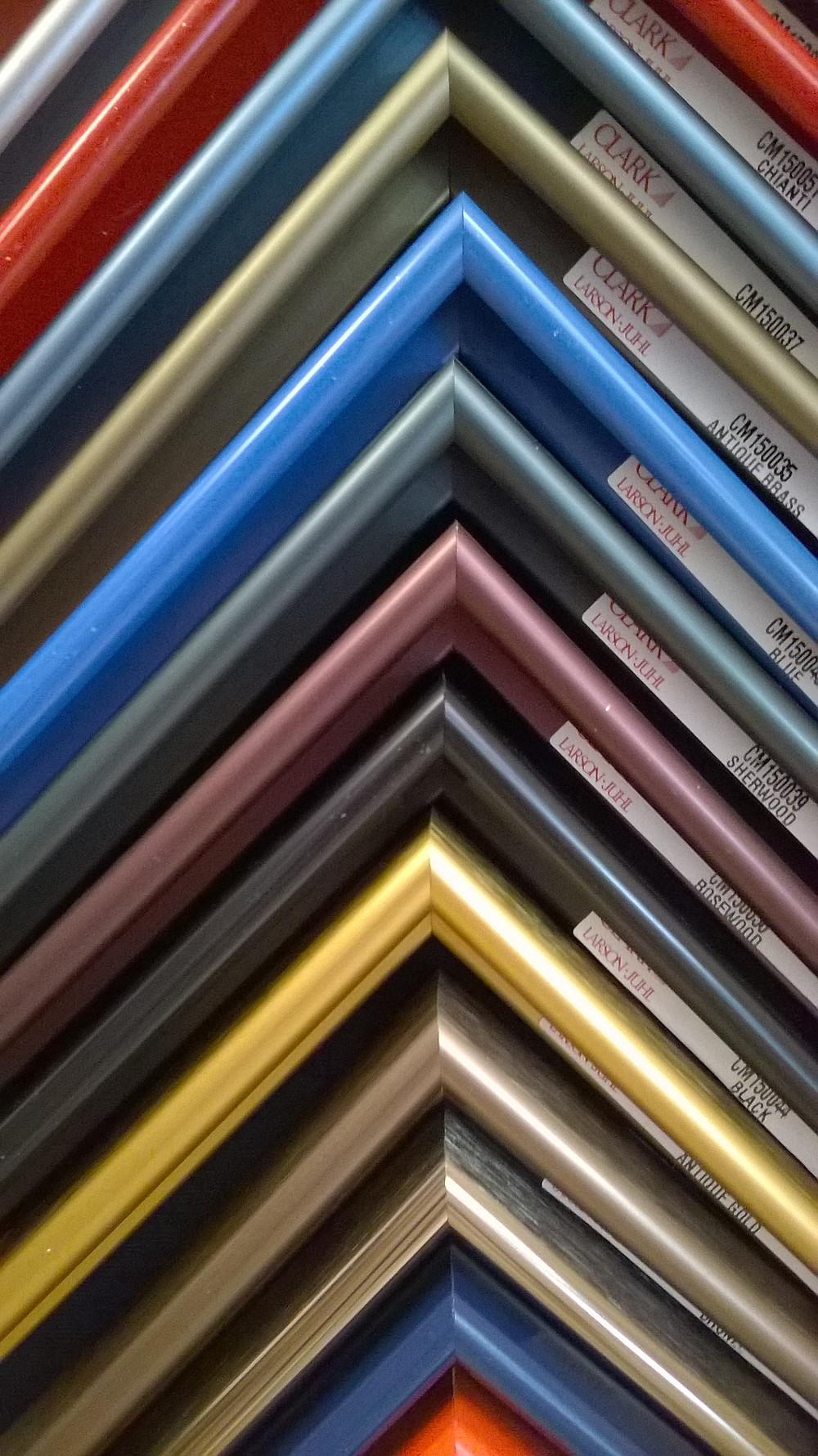 beautiful, thin, colorful metal frames