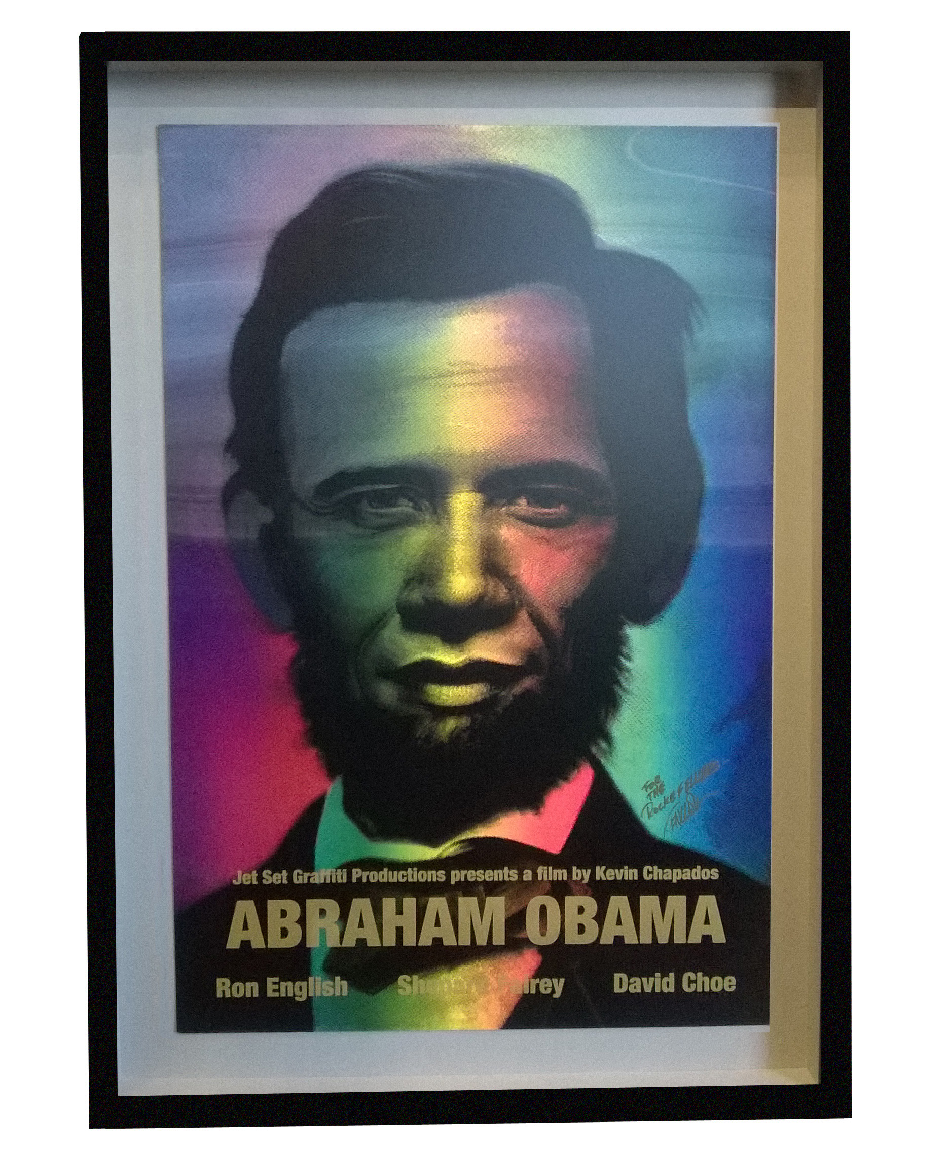 Abraham Obama custom framed