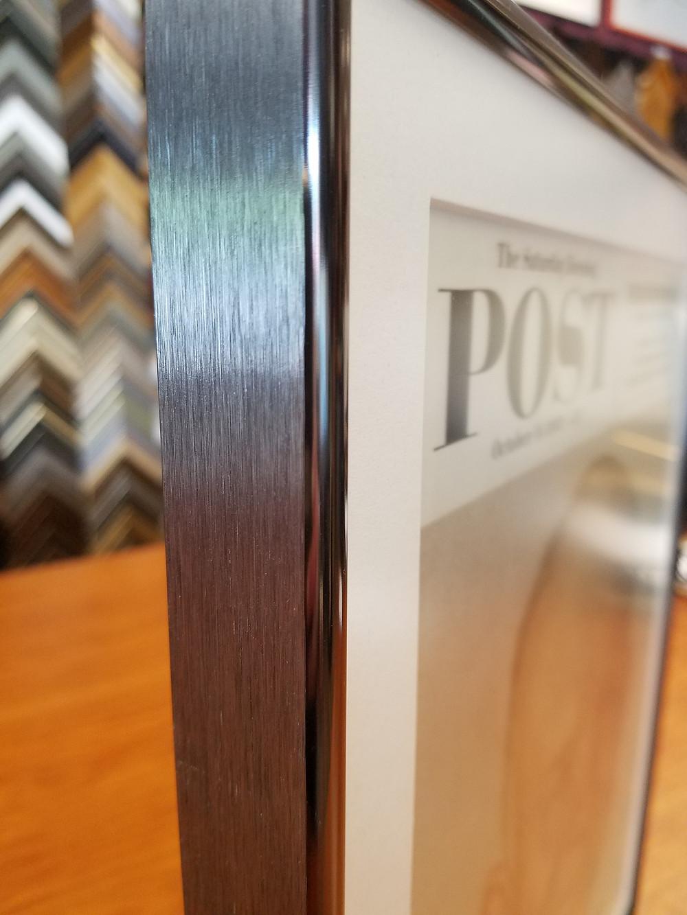 versatile metal frame for both modern and antique prints