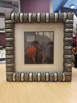 Antique Print and Frame