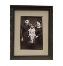Family photo framed