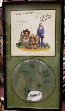 Drum Head Cover Autographed