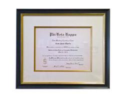 Economical diploma framed