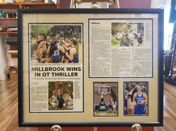 Millbrook OT Win Framed Newspaper