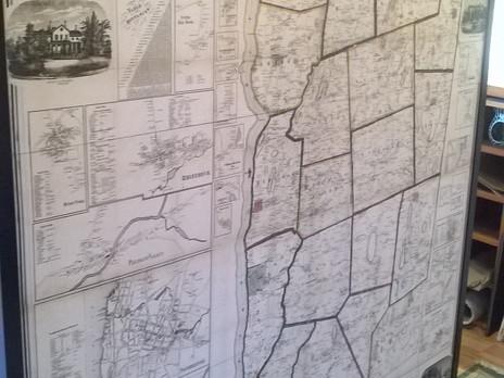 Oversized Map Framed. Ok, It's Huge!