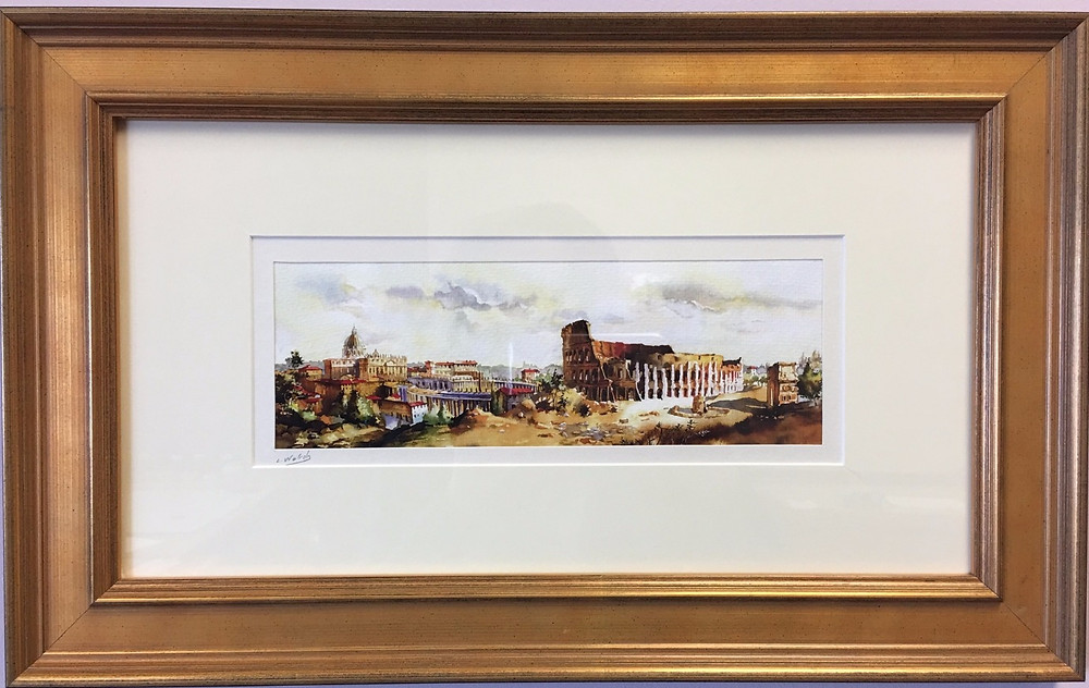 Classic flat gold panel molding for framing with timeless beauty