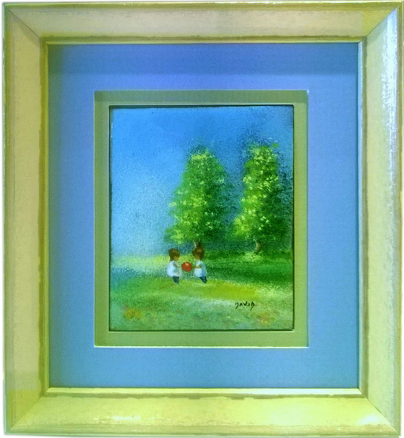The village frame shop local artist gallery conservation framing mini painting custom picture frame jeuxipadfo Images