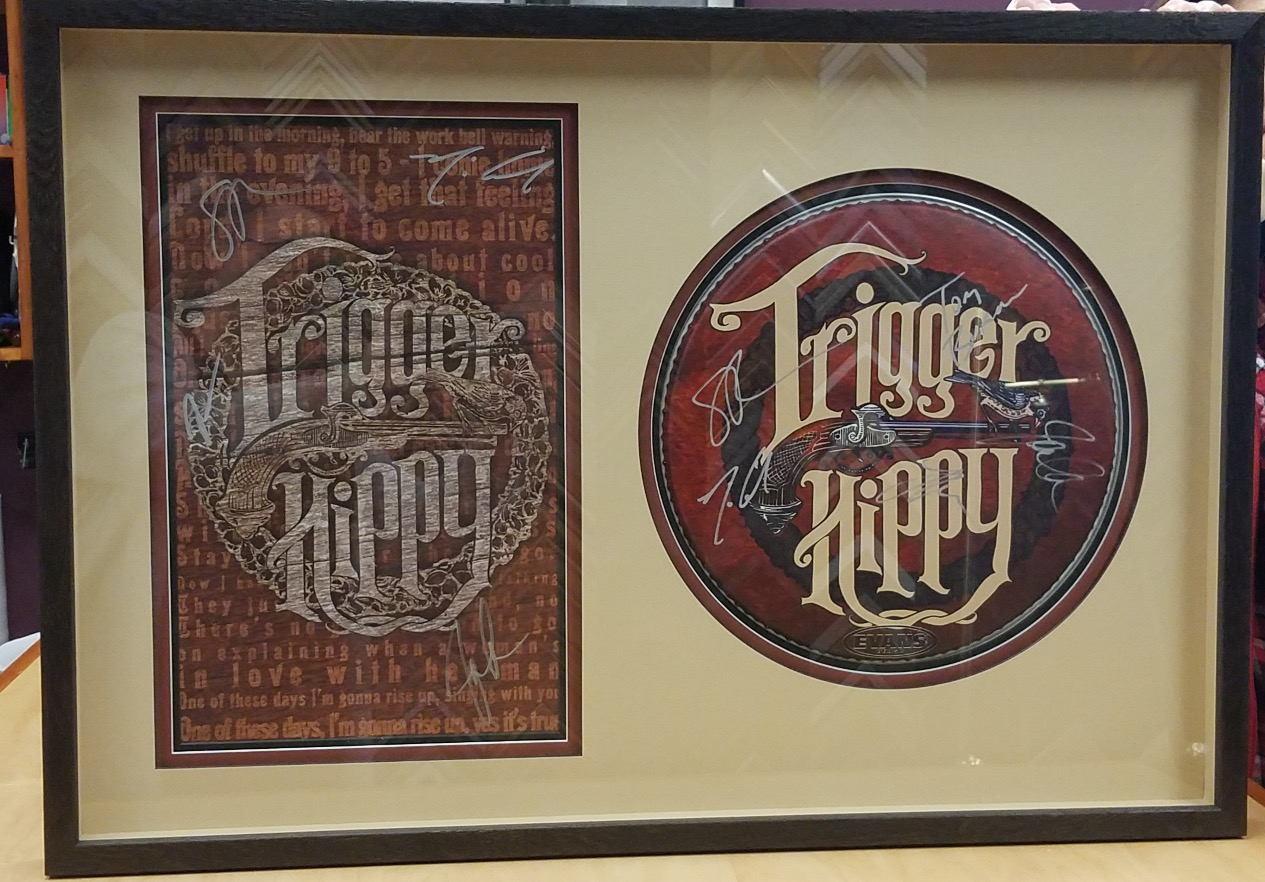 Trigger Hippy Drum Cover and Poster