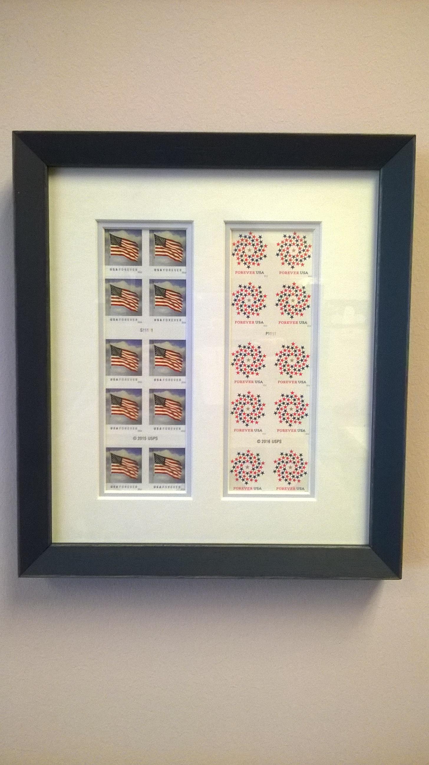 Framed Postage Stamps