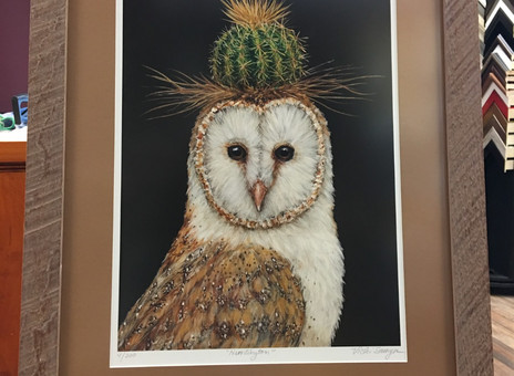 "Framed Up - Vicki Sawyer ""Huntington"" Owl Print"