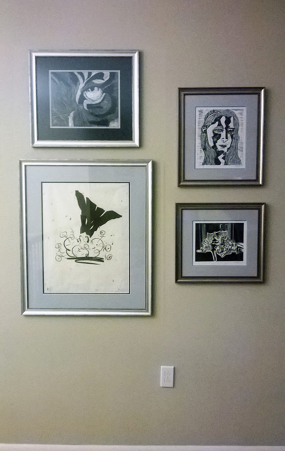 Hanging groups of art in a portrait-orientation