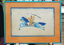 Paint on Papyrus metallic blue frame
