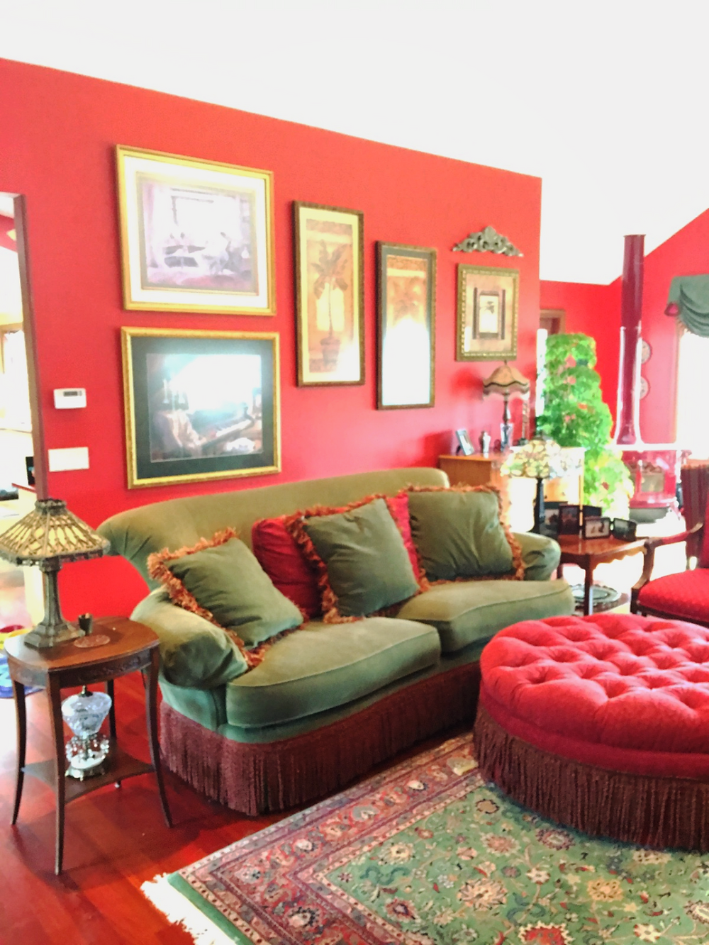 Create Drama With Grouping of Art on Large Walls