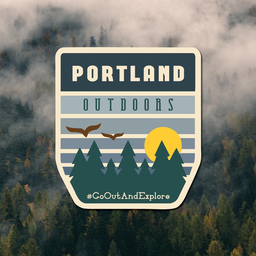 Portland Outdoors Badge Logo