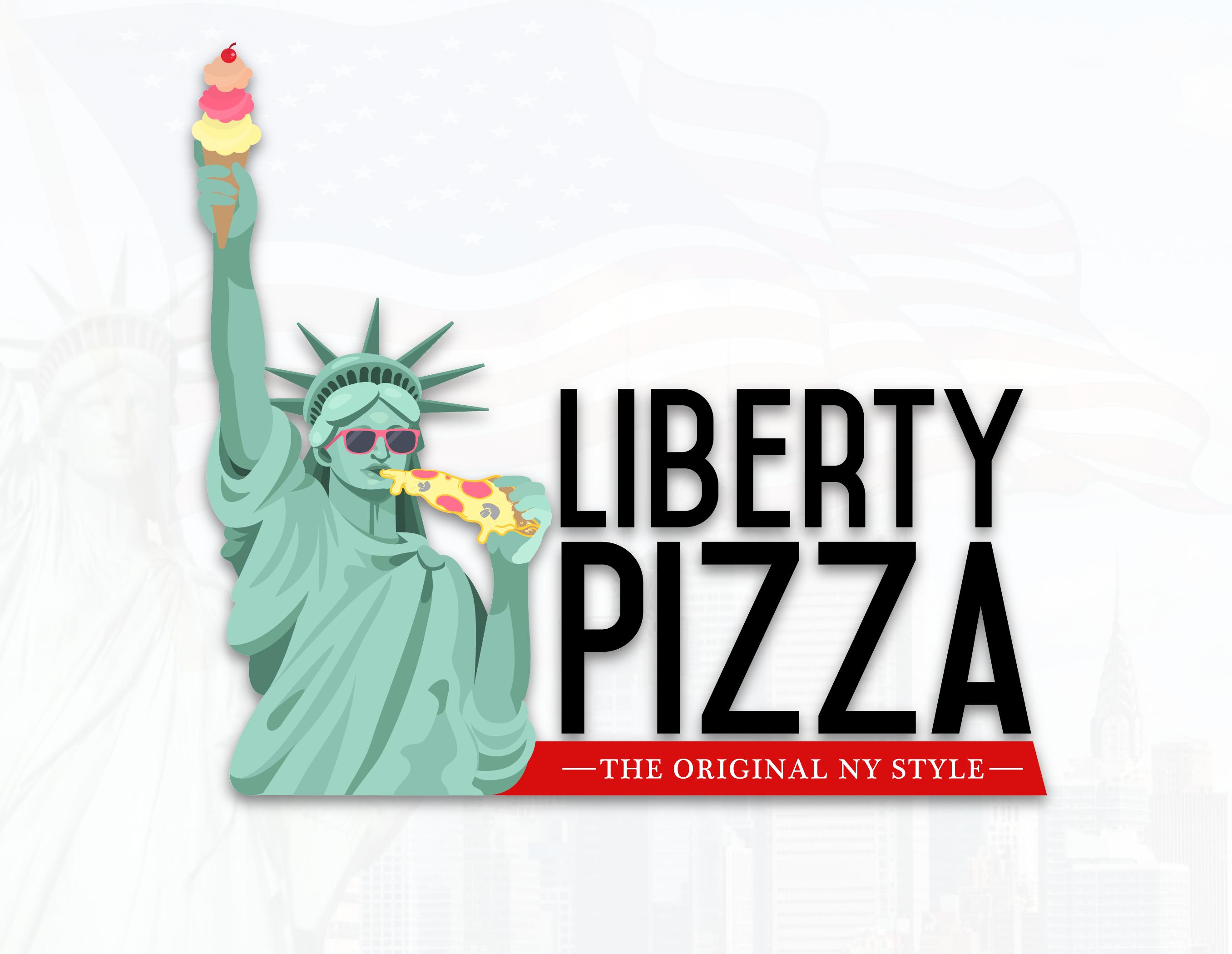 Liberty Pizza Logo Design