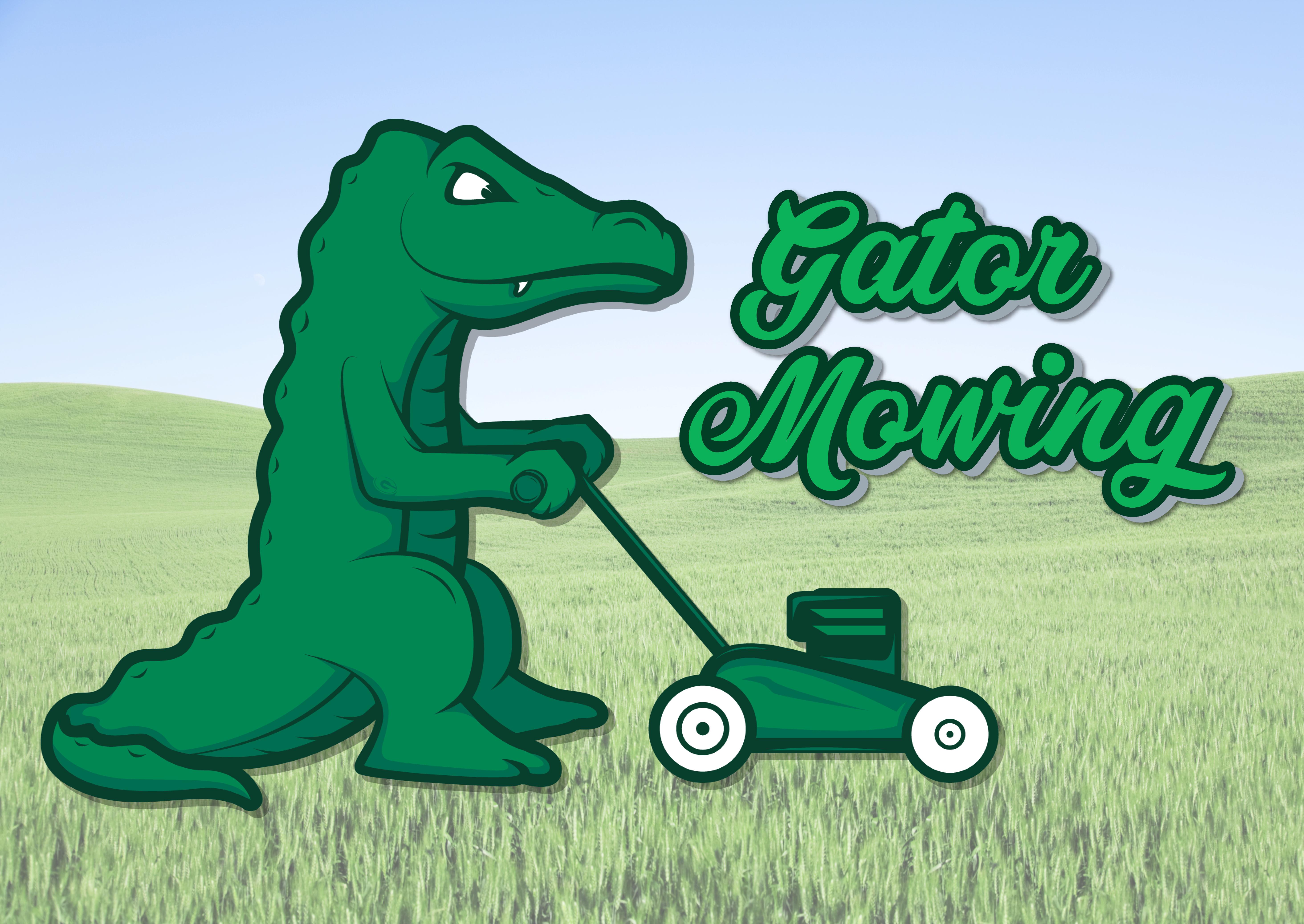 Gator Mowing Logo Design