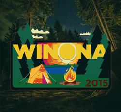 Camping Badge Logo
