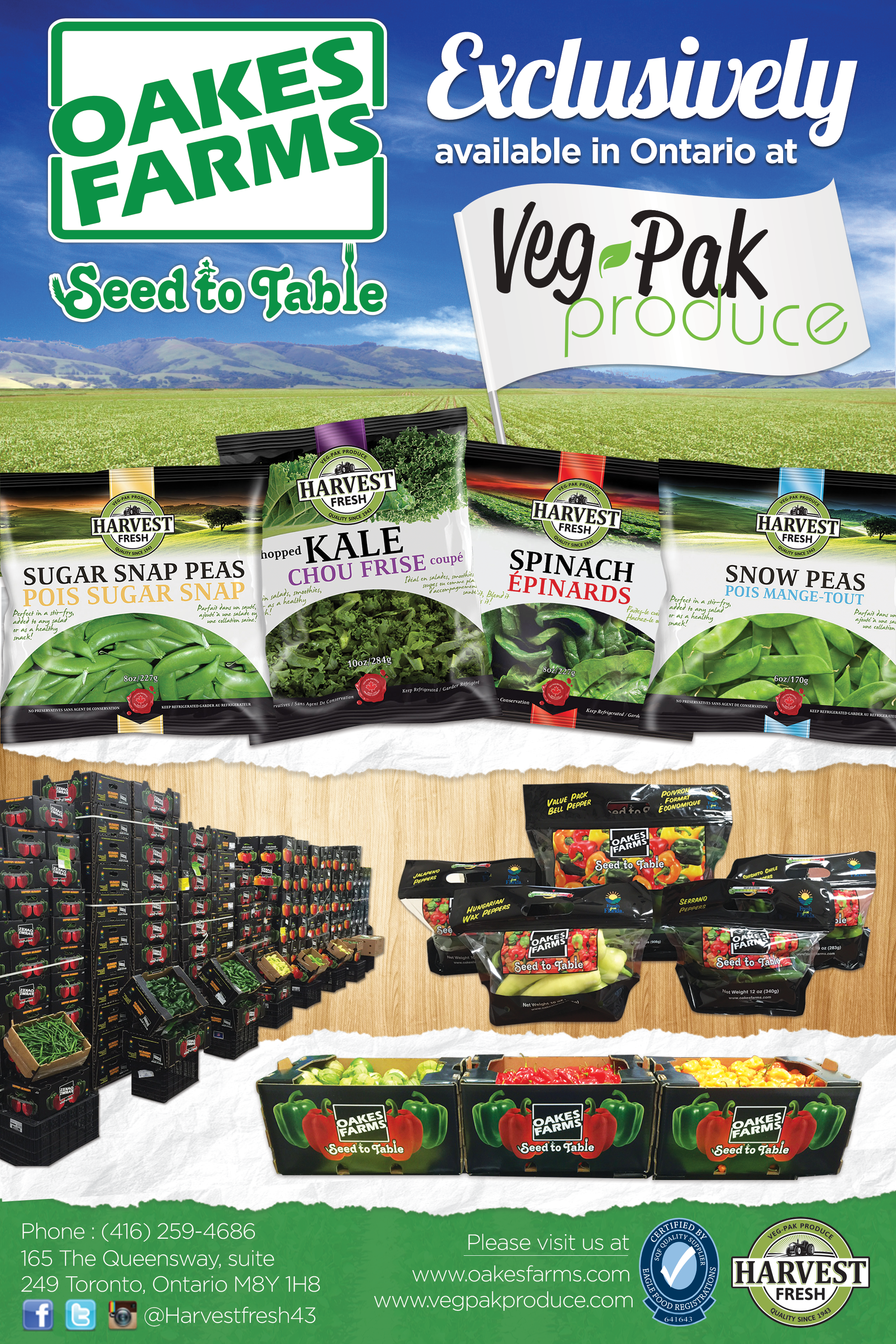 Oakes Farms Newsletter Ad