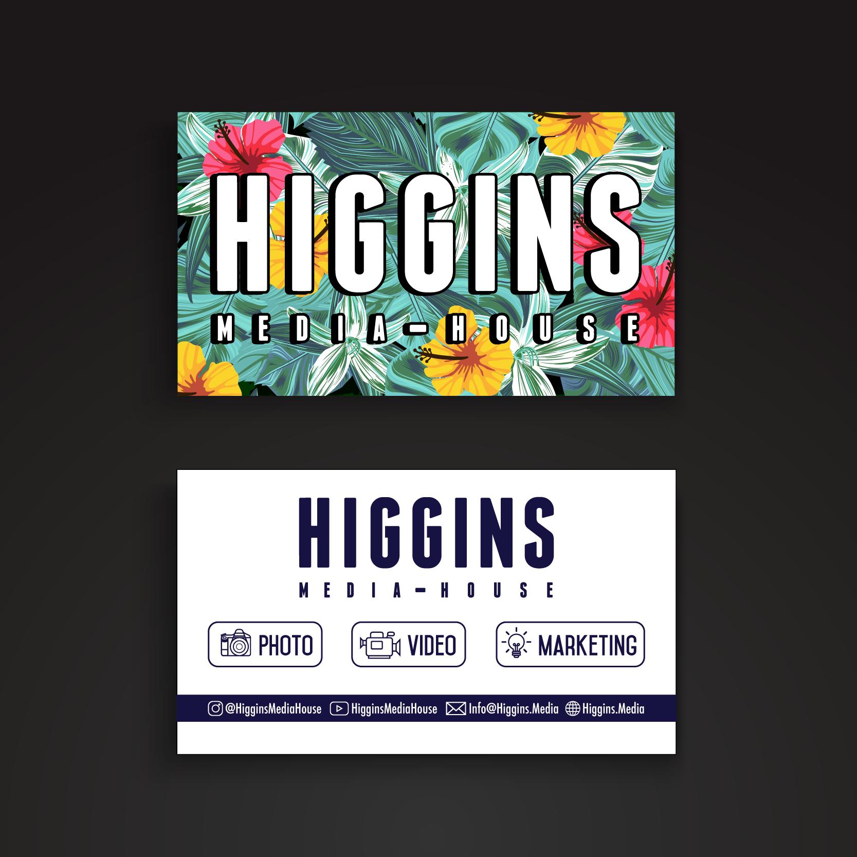 Higgins Media House Business Cards