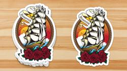 Homesick Pirate Ship Stickers