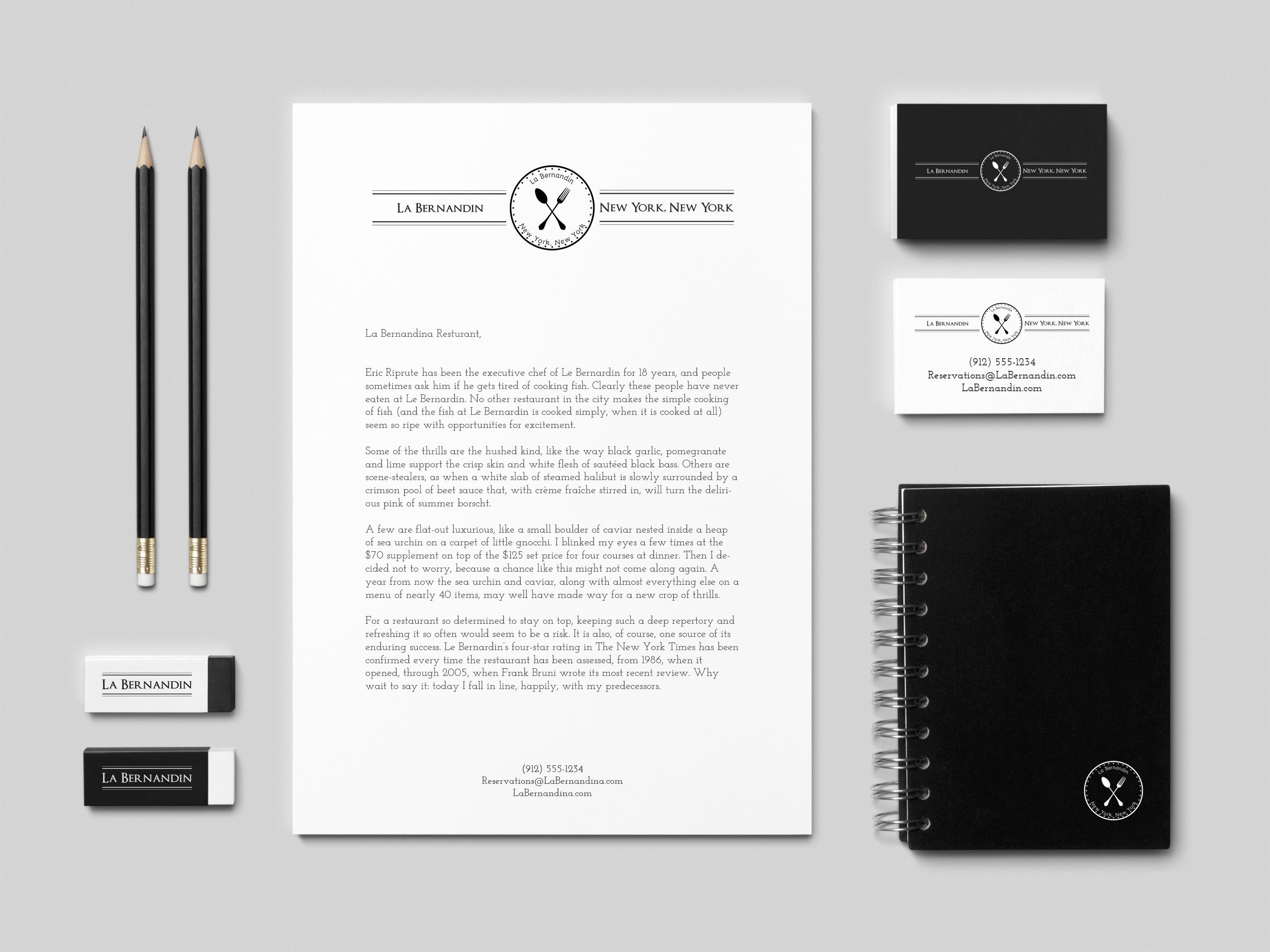 La Bernandin Branding & Stationary