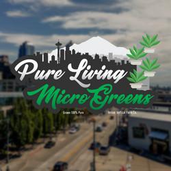 Pure Living MicroGreens logos