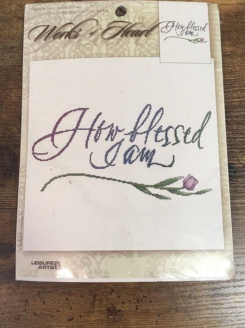 How Blessed I Am - Words of Heart  | Leisure Arts