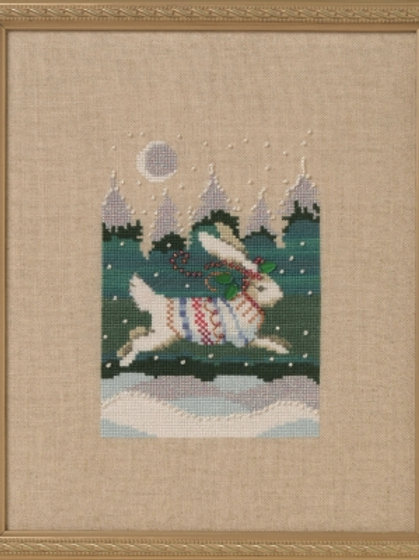Winter Hare Holiday in the Forest | Nora Corbett Designs