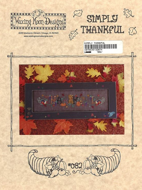 Simply Thankful | Waxing Moon Designs