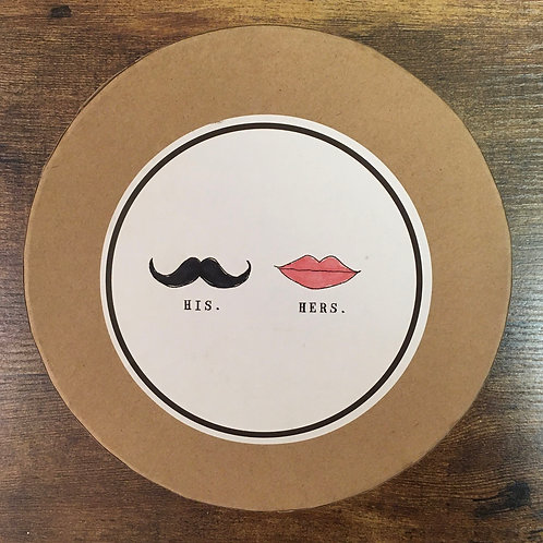 His and Hers Plate Set