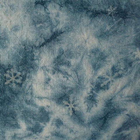 Bliss-Vintage Blue Clouds w/ snowflakes #181529