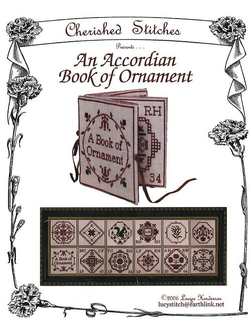 An Accordian Book of Ornament | Cherished Stitches