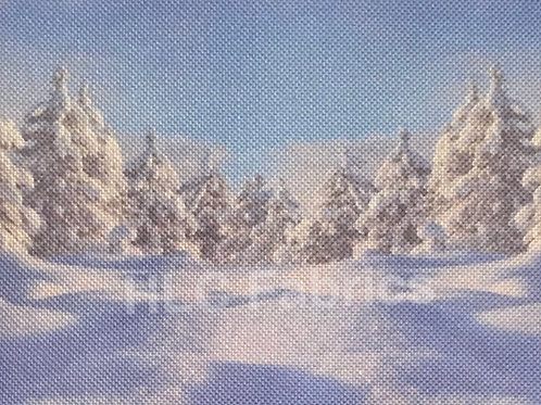 Snowy Trees | Linen | HLC