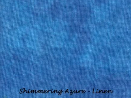 Shimmering Azure | Linen | Under The Sea Fabrics