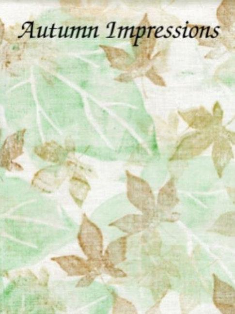 Autumn Impressions | Evenweave | Silkweaver Fabrics