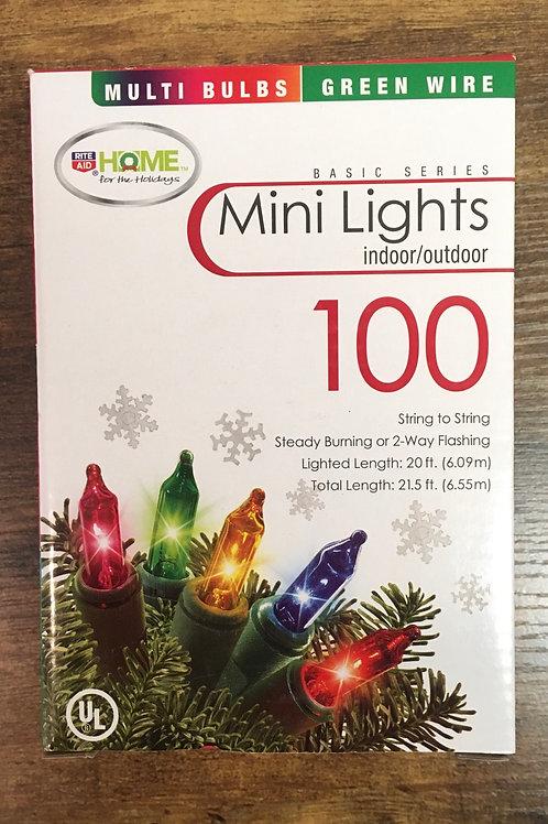 Multicolor Indoor/Outdoor Mini Lights