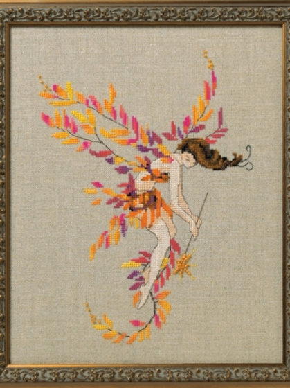 Glittering Leaves - Autumn Pixies   Nora Corbett Designs