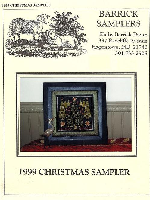 1999 Christmas Sampler | Barrick Samplers