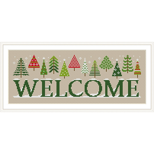 Holiday Welcome Sign | Tiny Modernist
