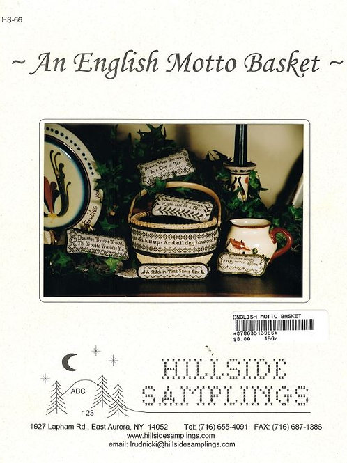 An English Motto Basket | Hillside Samplings