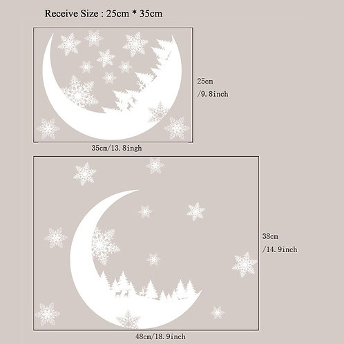 Winter Moon Window Cling Sticker
