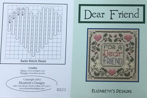 Dear Friend | Elizabeth's Designs