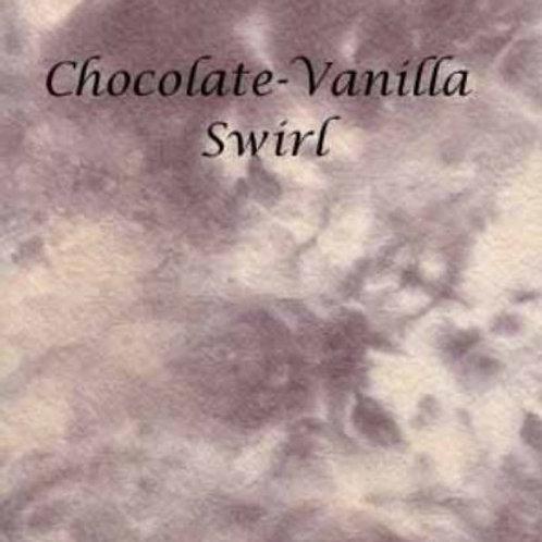 Chocolate Vanilla Swirl | Hardanger | Silkweaver Fabric